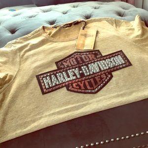 Plus Harley Davidson Studded Shirt